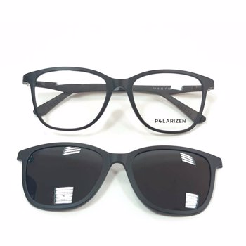 Rame ochelari de vedere unisex Polarizen CLIP-ON AA1001 C1 Black