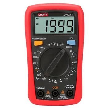 Pachet Multimetru digital, redefineste standardele de performanta pentru multimetrele digitale pentru incepatori, Uni-T, UT-33B+ cu Lanterna LED