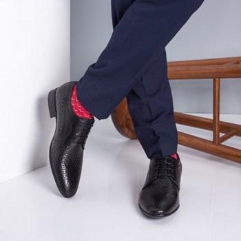 Pantofi barbati Piele Ivano negri eleganti