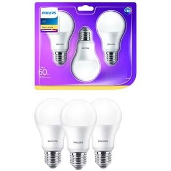 Set 3 becuri LED Philips E27 8.5W 60W 806 lm A+ lumina calda d66bjnbbm