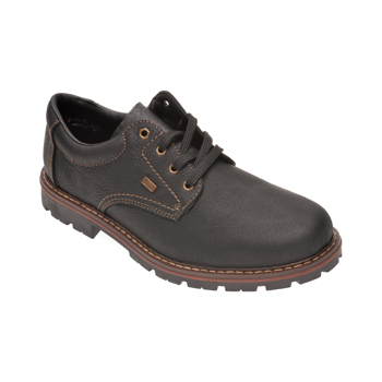 Pantofi RIEKER negri, 17710, din piele naturala