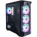 Nou! Carcasa Segotep LUX II Black RGB, Middle Tower, Plexiglass (Negru)