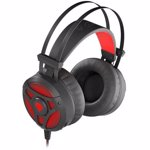 Casti Genesis NEON 360 STEREO Gaming Headset, Wired, Microphone, Black/Red