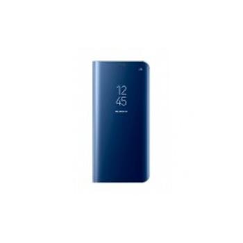 Husa Flip Cover Clear View, Samsung Galaxy S8, Albastru