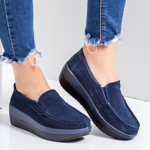 Pantofi dama casual piele naturala albastri Parisa-rl