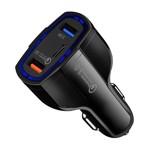 Incarcator Auto Turbo Fast 5V 3.5A QC3.0 DUAL USB pentru Smartphone Universal Negru