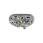 Bijuterii Femei DEVATA Sterling Silver 18K Yellow Gold Classic Dragonfly Ring STERLING SLVR W 18K GLD ACCENT