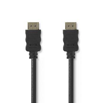 Cablu HDMI de mare viteza cu Ethernet conector HDMI - HDMI 7.5m negru Nedis VE-CVGT34000BK75