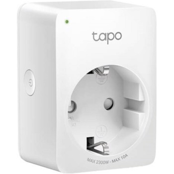 ! Priza Wi-Fi inteligenta TP-LINK Tapo P100, Schuko, compatibila Google Assistant si Amazon Alexa, programabila (Alb)