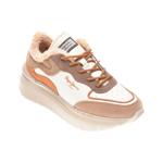 Pantofi sport PEPE JEANS albi, LS31038, din piele ecologica