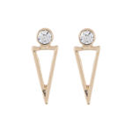 Bijuterii Femei Panacea Crystal Accent Open Triangle Drop Earrings GOLD