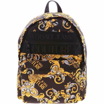 Versace Jeans Couture Logo Baroque Print Backpack In Black E1YZAB60 71594 M27 Culoarea Black BM7896403