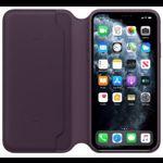 Husa Apple Leather Folio iPhone 11 Pro Max Aubergine mx092zm/a