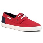 Teniși TOMMY HILFIGER - Seasonal Core Boat Shoe Sneaker FM0FM02760 Regatta Red XIT