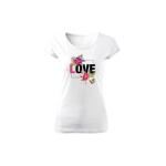 Tricou de dama ALB Love Flower COD TD014