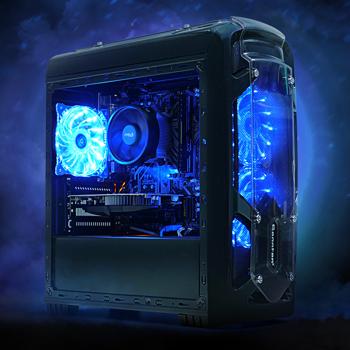 Sistem Gaming Viking AMD Edition 2019, AMD Ryzen 5 1600 3.2GHz, 12 thread-uri, 8GB DDR4, 1TB HDD + 128GB SSD, GTX 1650 4GB GDDR5, Iluminare RGB