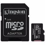 Card de memorie MicroSD Kingston Canvas Select Plus, 512GB, UHS-I, Class 10 + Adaptor SD