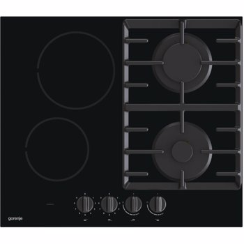Plita incorporabila Gorenje GCE691BSC, mixta, 2zone,2 arzatoare, control butoane, 60 cm, negru