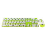 Kit tastatura si mouse wireless TED-4 - alb-verde