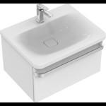 Dulap baza suspendat Ideal Standard Tonic II 60cm, alb lucios, un sertar cu inchidere lenta