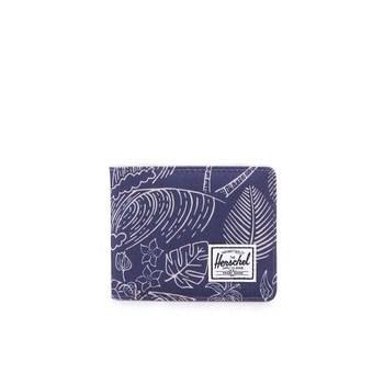 Portofel cu imprimeu cu palmieri - albastru HERSCHEL Roy