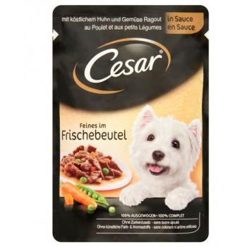 CESAR Pui și Legume, bax hrană umedă câini, (în sos), 100g x 24
