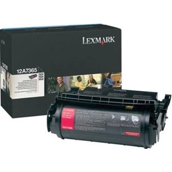 Toner, black, LEXMARK 12A7365