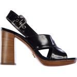 Prada Sandals Spazzolato Culoarea Black