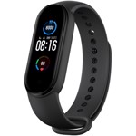 Bratara fitness Xiaomi Mi Band 5 Black, ecran AMOLED, waterproof, bluetooth 5.0, 14 zile autonomie, senzor cardiac PPG, EU Version