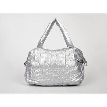 Poseta FLAVIA PASSINI argintie, Y421733, din material textil