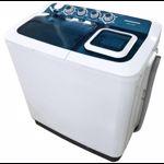 Heinner Masina de spalat rufe semiautomata HSWM-AD84BL, 8 Kg, 4.6 Kg, Alb/Albastru