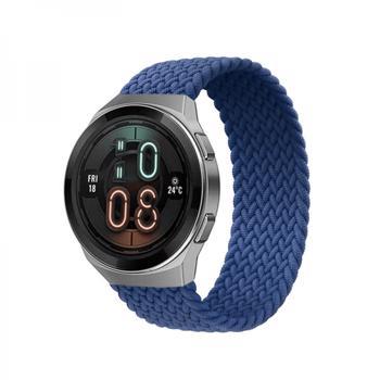 Curea elastica stretch din nylon pentru smartwatch universala 22mmM albastru
