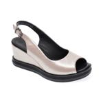 Sandale LE BERDE roz, 44, din piele naturala
