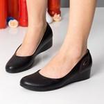 Pantofi dama Cavazos negri cu platforma ortopedica