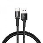 Cablu Date Premium Baseus Halo Cu Mufa Type-c Negru, Cu Led La Mufa De Incarcare 0,5m