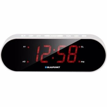Radio cu ceas Blaupunkt CR6SL, FM radio, Dual Alarm, Argintiu