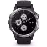 Ceas activity outdoor tracker Garmin Fenix 5 Plus, GPS, HR (Negru/Argintiu)