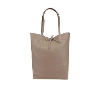 Geanta shopper maro taupe ZOOT Simple din piele