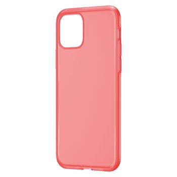 Husa iPhone 11 Pro Max Baseus Liquid Silica Gel Protective Clear Red