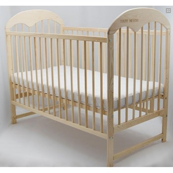 Baby Needs - Patut din lemn Oskar 120x60 cm natur