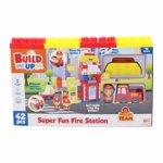 Jucarii de constructie / Set de construit Statie de pompieri Happy Line, 42 Piese