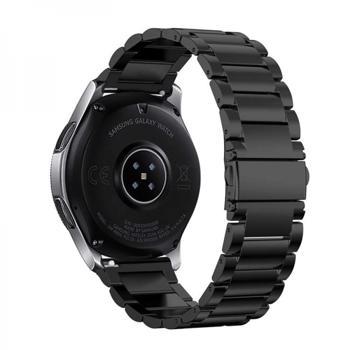 Bratara cu zale si telescop QuickRelease universala 22mm din otel inoxidabil pentru Samsung Galaxy Watch 46/ Gear S3 Huawei Watch GT negru
