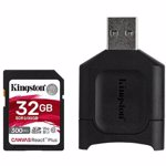 Cititor carduri Kingston MobileLite Plus SD + card de memorie Canvas React Plus SD 32GB SDXC UHS-II V90 mlpr2/32gb
