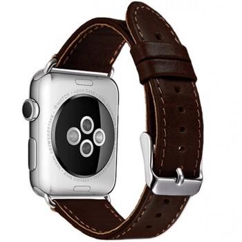 Curea pentru Apple Watch 38 mm piele iUni Vintage Dark Coffee