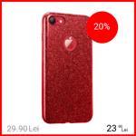Husa Capac spate Shine Rosu Apple iPhone 7, iPhone 8