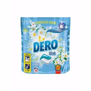 Detergent automat capsule duo Dero, Iris Alb, 15 spalari