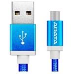 Cablu de date/incarcare ADATA USB - microUSB, Blue