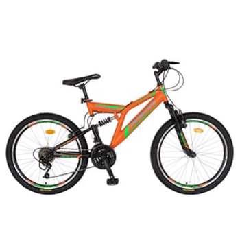 """Bicicleta MTB-FS RICH R2649APN, 26"""", cadru otel, portocaliu-negru"""