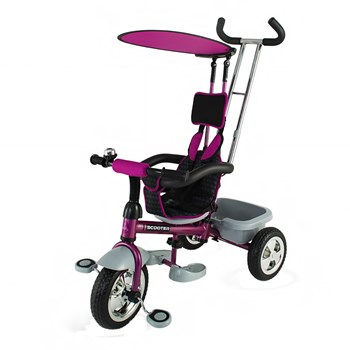 Tricicleta DHS Scooter Plus multifunctionala mov
