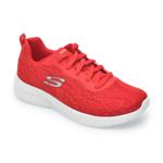 Pantofi sport SKECHERS rosii, Dynamight 2.0Homespun, din material textil